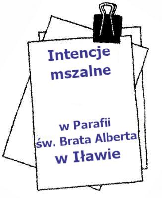 Intencje Mszalne 04.10. – 10.10.2021 r.